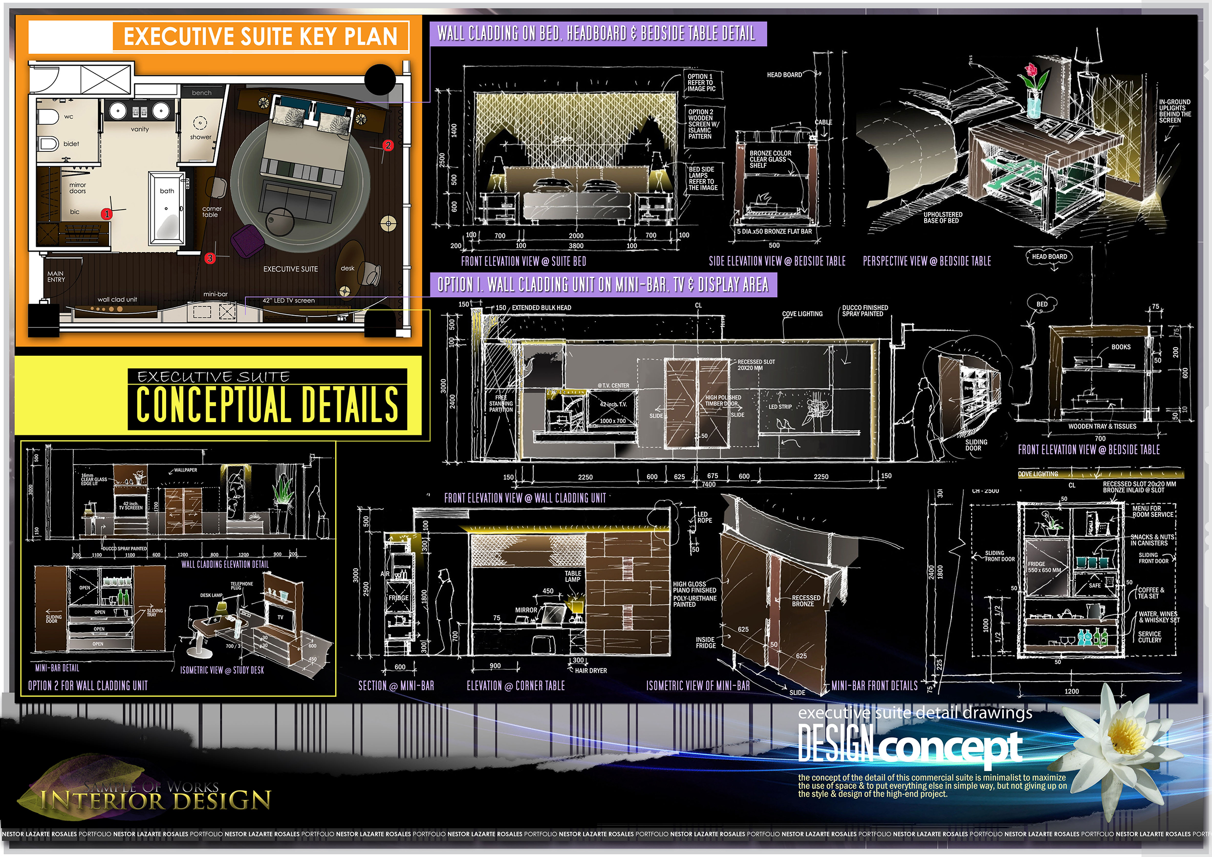 Main page portfolio nestorlazarte rosales for Interior design concept package