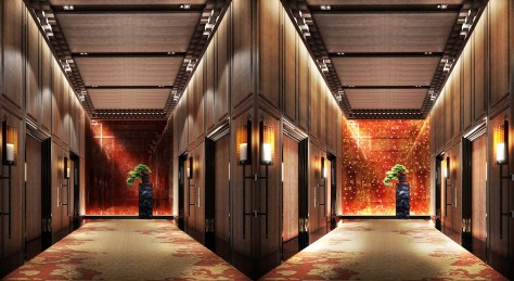 Marriott Hotel. Lift Lobby