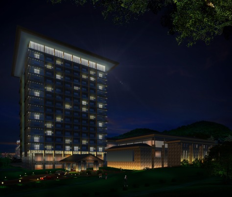 Hotel Exterior Wall Lights : Marriott Hotel Project (China) NestorLazarte ROSALES