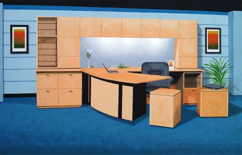 Manual Rendering (acrylic paint). Executive Office